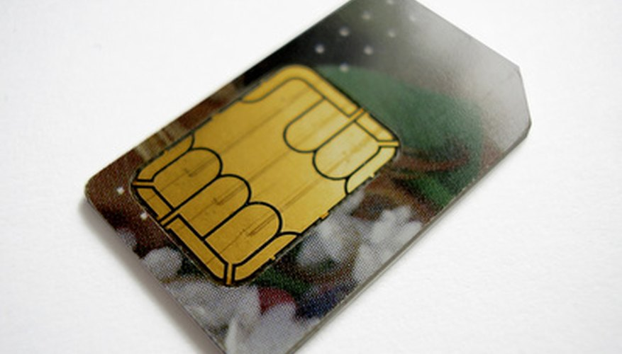 The SIM chip is the gold-coloured area on the back of the card.