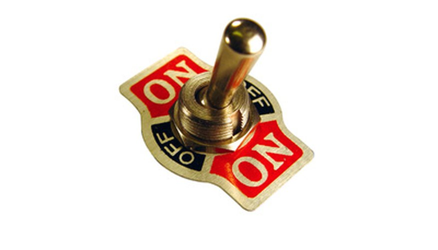 Use a toggle switch to control an electrical or automotive accessory.