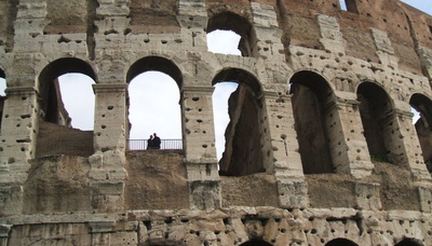 The Colosseum is ancient, but still standing today as a testament to the workmanship of the Romans.
