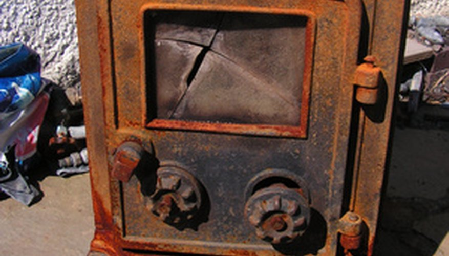 Cast iron wood stoves can be easily cleaned.