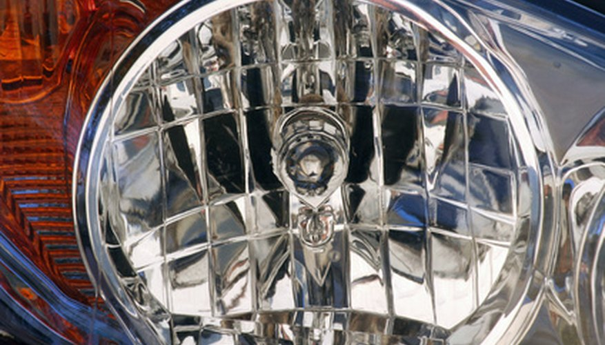 Remove the front headlight lens from your vehicle.