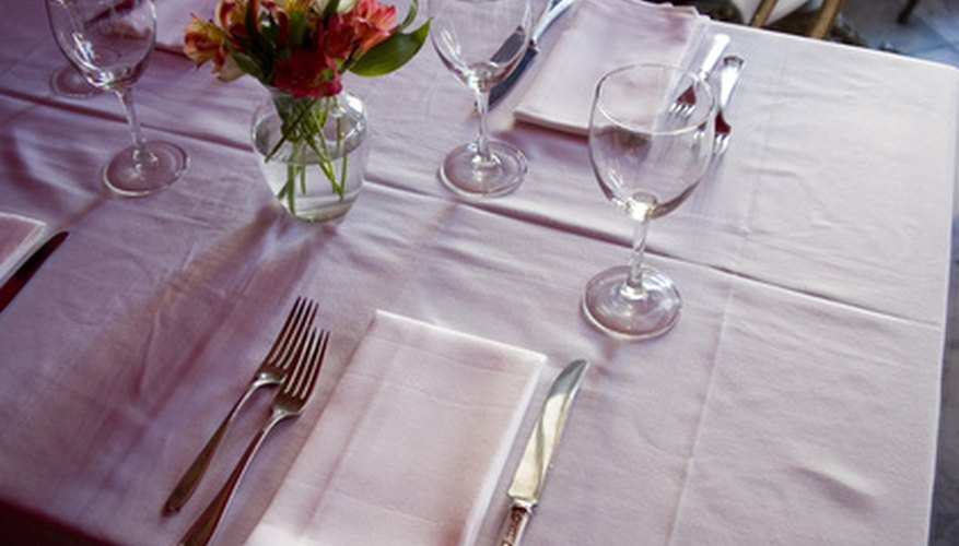 Etiquette includes knowing how to use a formal table place setting.