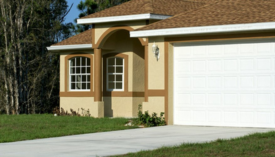 Converting a garage to living space may require raising the floor.
