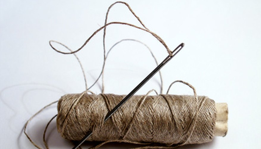 Darning was a common practice when clothes where handmade.