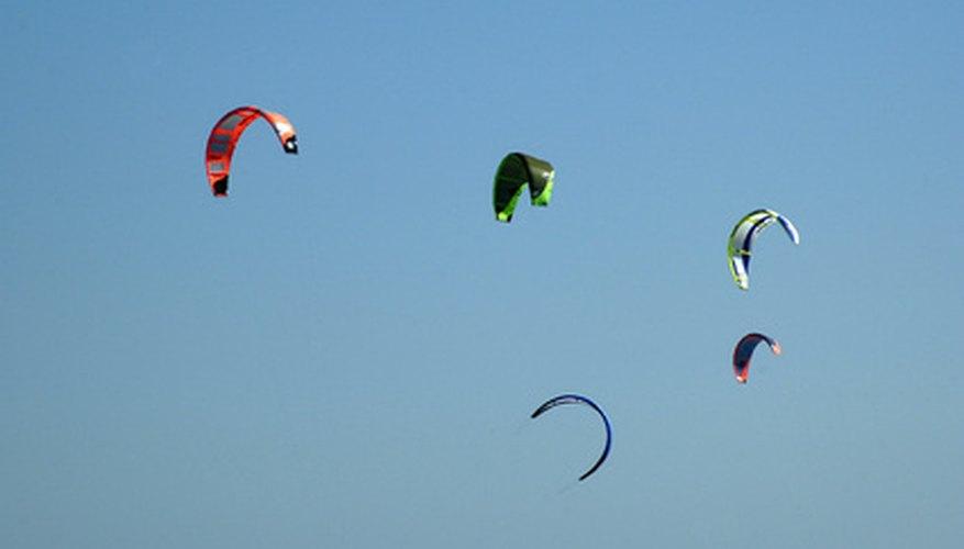Parafoil kites.