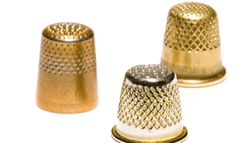 Brass, silver, gold and other materials have been used to protect needleworkers' fingers.