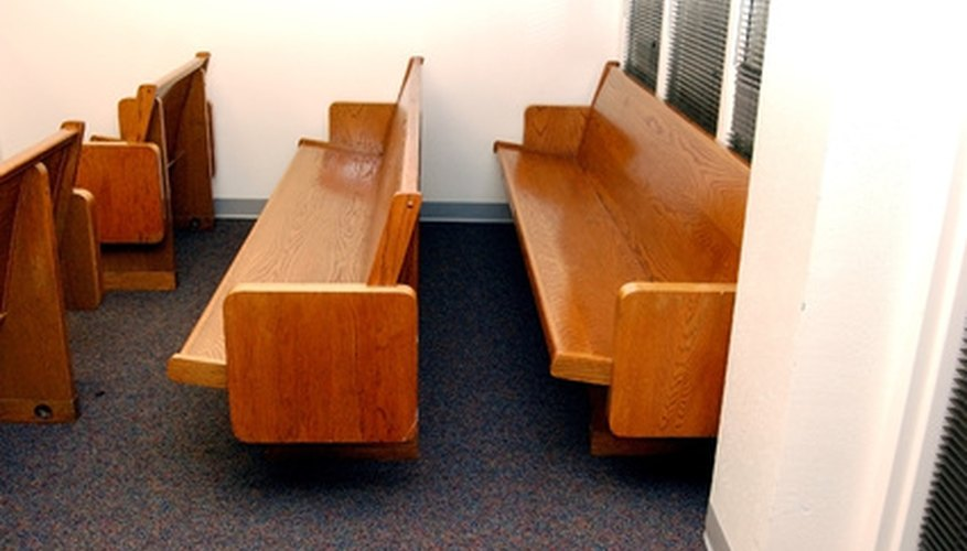 Cut down a church pew to fit anywhere in your home.