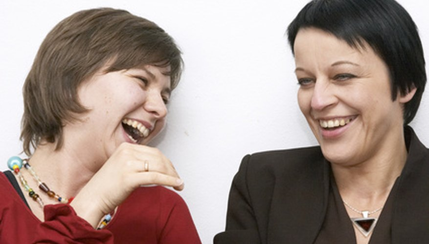 Laughing at people behind their backs is one type of passive-aggressive behaviour.