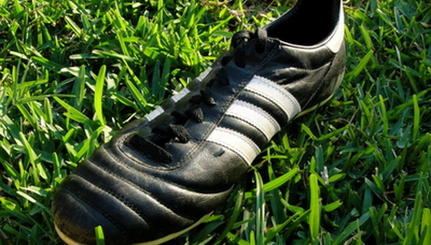 Clean your soccer shoes to keep them in good condition.