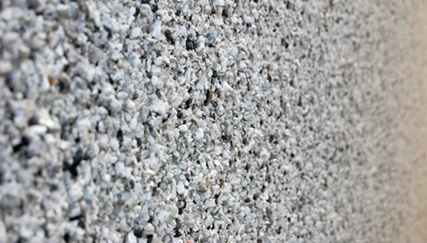 Scrape loose particles off the roughcast before priming.
