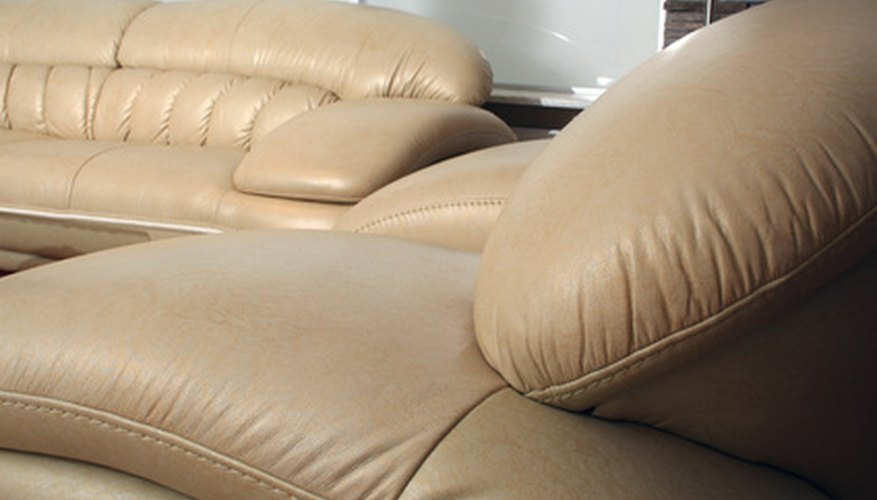 Bright yellow curry stains distract from the beauty of leather furniture.