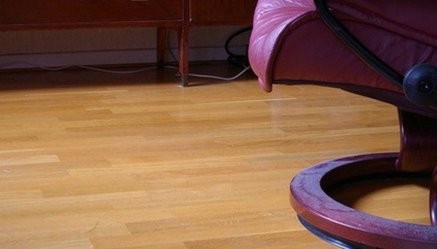 Laminate flooring snaps together to form a continuous surface.