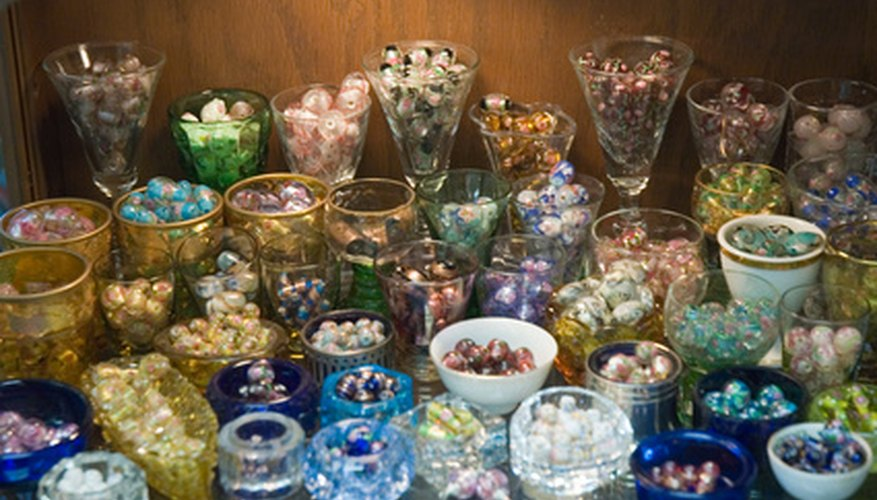 Beaded wineglasses and serving plates make excellent gifts.