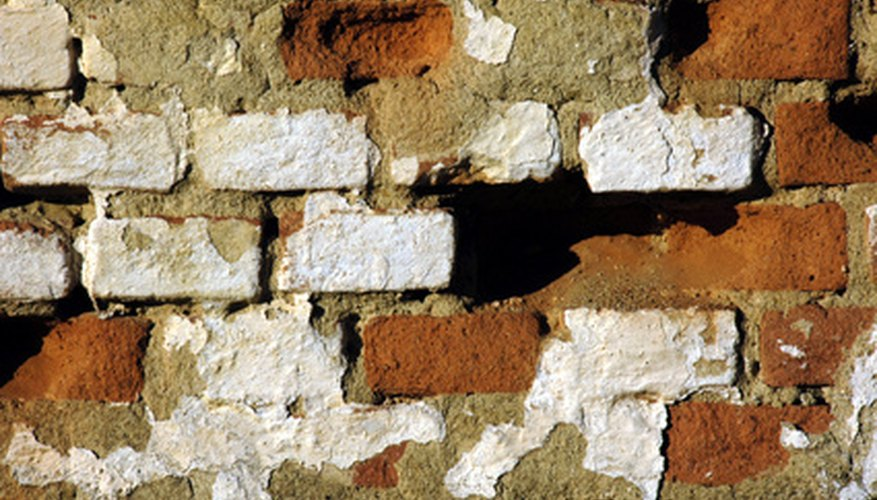 Gaps between bricks provide protection for bee colonies.