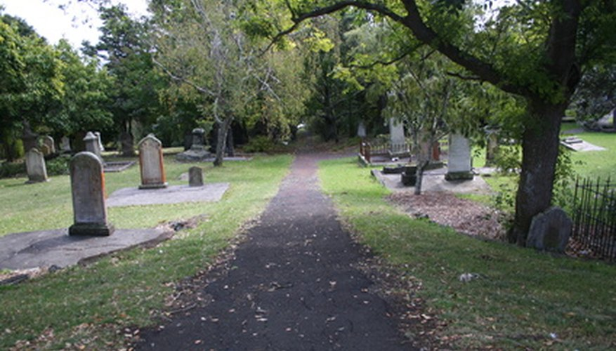 Cemeteries are broken up into many different plot sizes that can be privately owned.