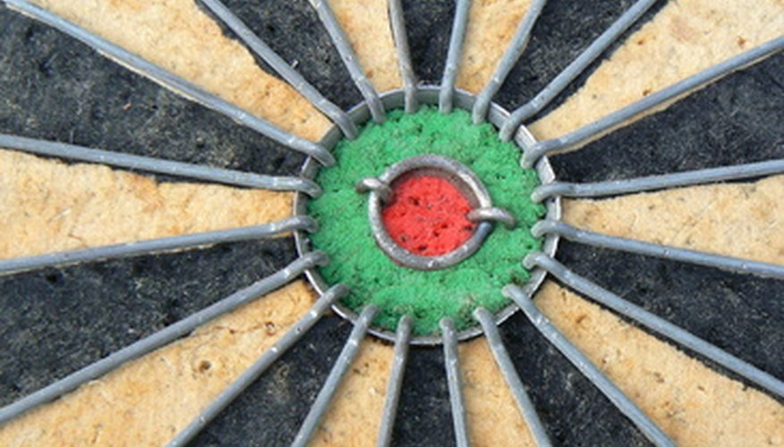 The centre of a Winmau dartboard cabinet should line up perfectly with the bullseye on the board.