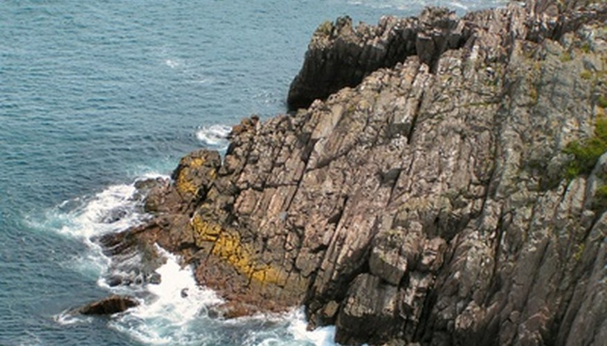 The type of rocks determines the type of cliff.