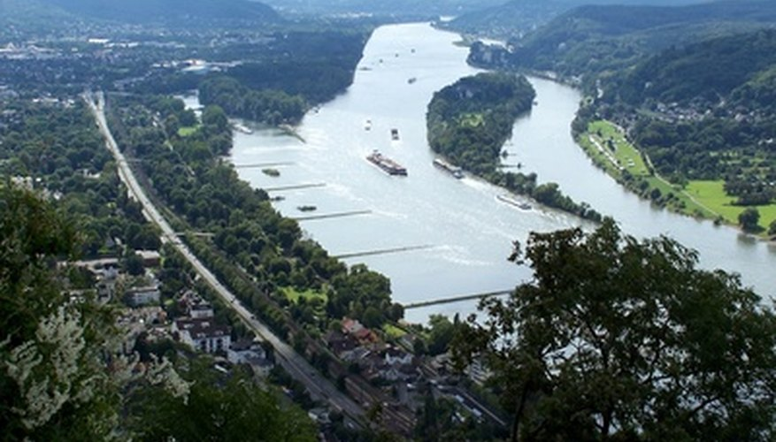 The Rhine is a major shipping channel.