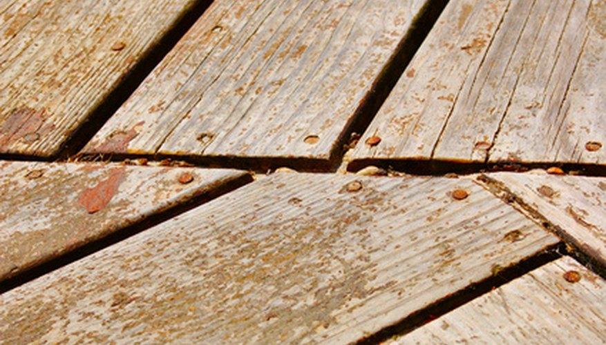 Repairing splintered wood is a simple process.