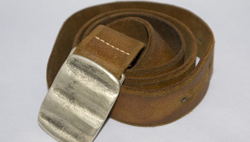 Turn your belt buckle silver with some spray paint.