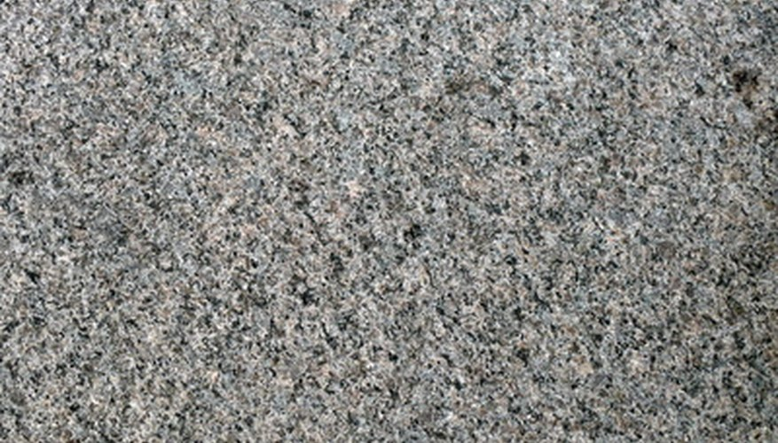 Cleaning a granite wall is easy.