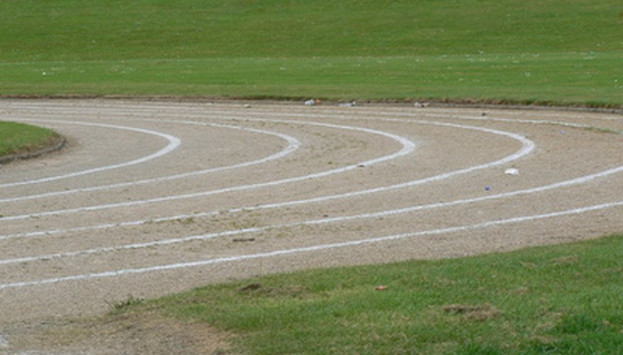 Before a race can be run, the lines must be marked properly on the track.