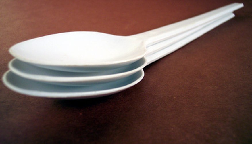 Before the plastic in these spoons entered their mould, they resided for a time in a plastication barrel.