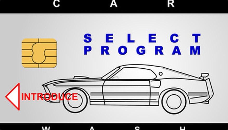 Las opciones de lavado del auto son ejemplos comunes de los precios de la línea de productos.