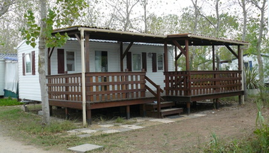 Mobile home extensions provide additional usable living space.