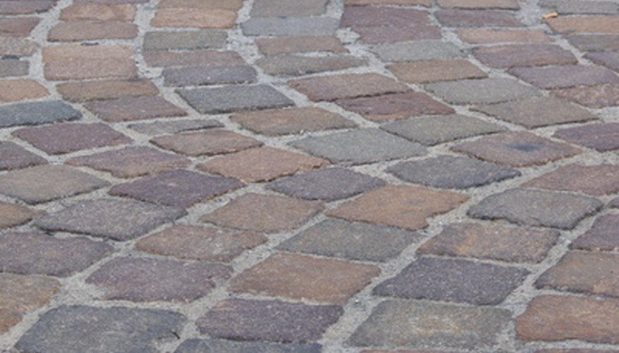 Limestone tiles add classic beauty to your patio.