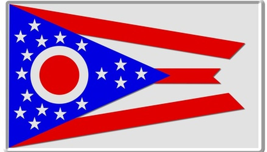 The Ohio flag is the only state flag that is not rectangular.