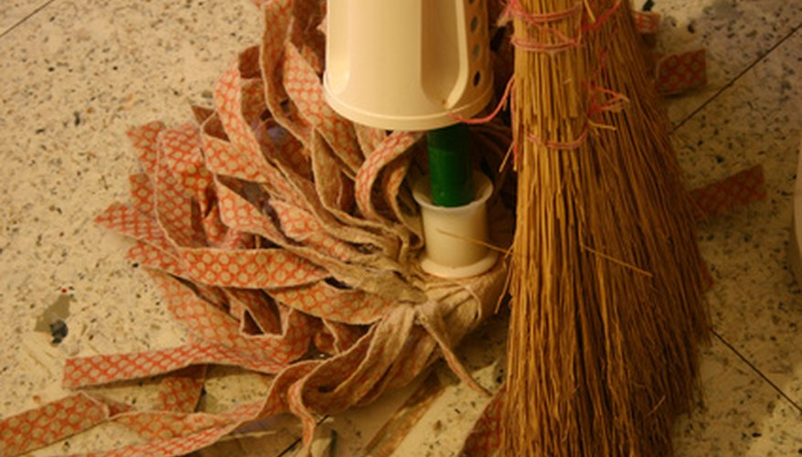The proper storage of wet cleaning materials is essential to germ reduction.