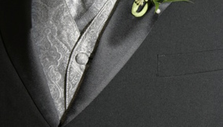 A correctly adjusted and good fitting waistcoat completes a formal ensemble.