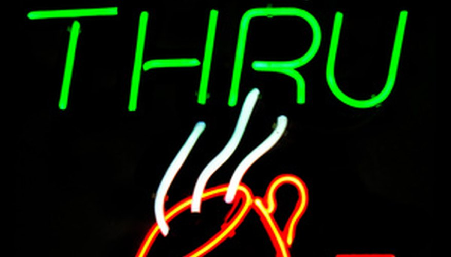 A neon sign can help attract customers to your business.