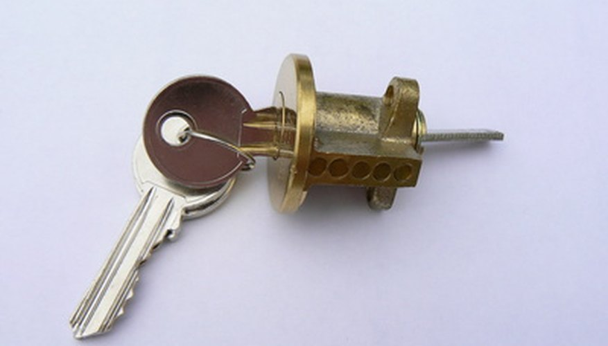 Super Glue in your lock can be a problem.