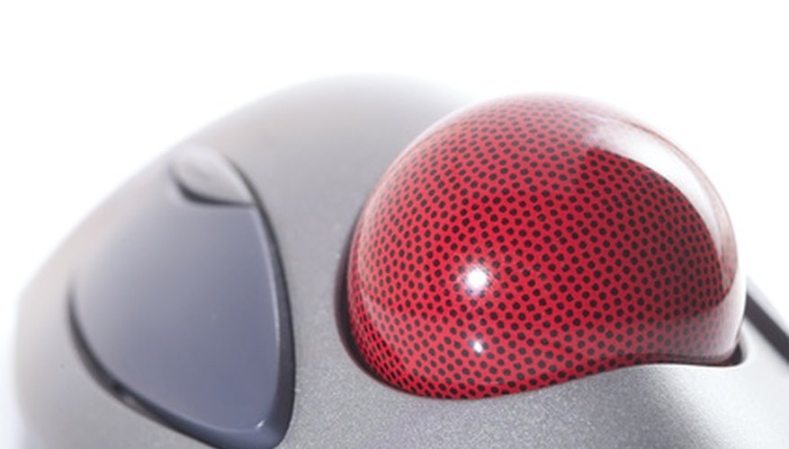 A trackball mouse does not move the same way as a traditional mouse..