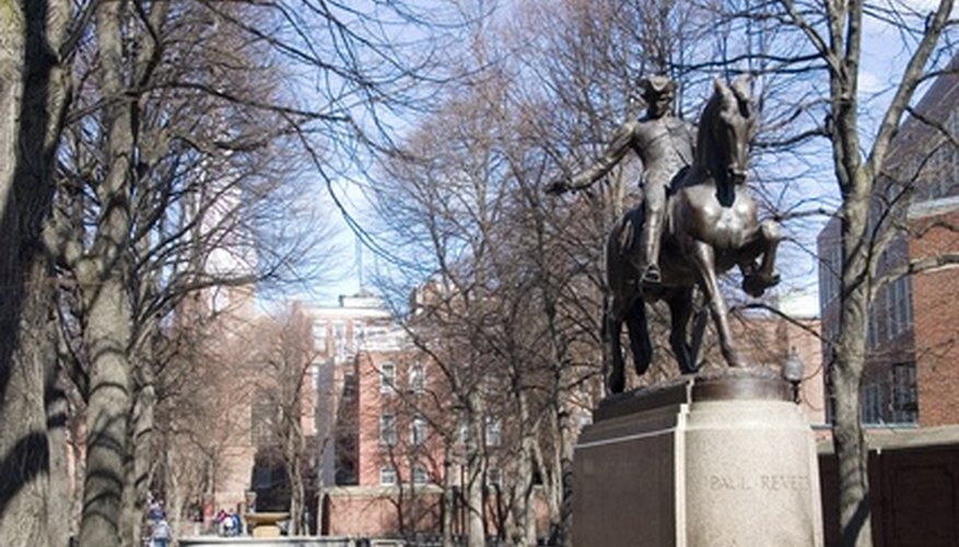 Paul Revere warned residents in the American colonies in 1775, at the start of the Revolutionary War.