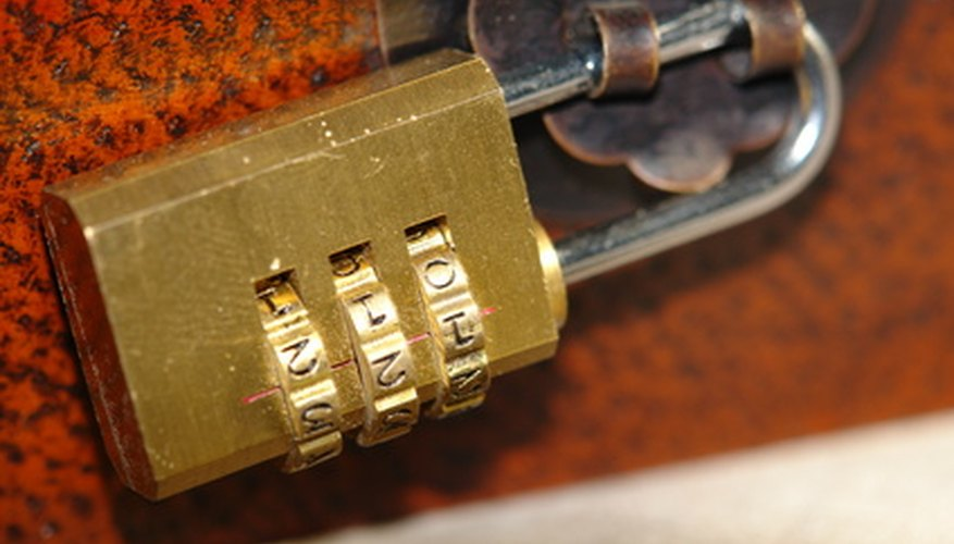 Change a padlock's code several times over the course of use to keep items protected.