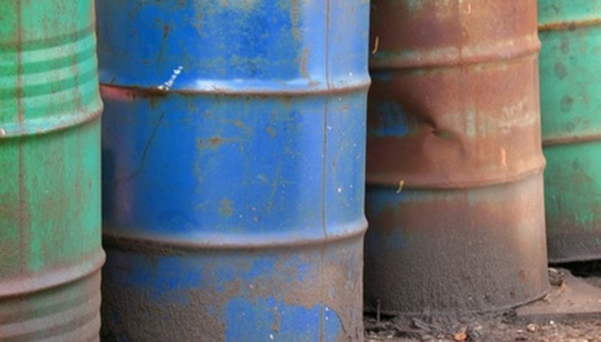 Oil drums can be reused for storage but must be cleaned properly.