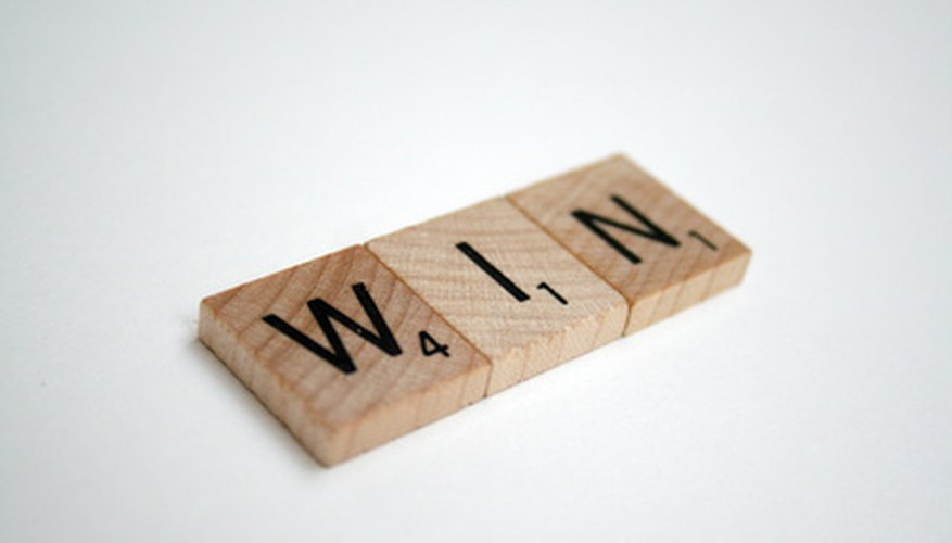 There are different tiebreaking rules for Scrabble, depending on how the game is played.