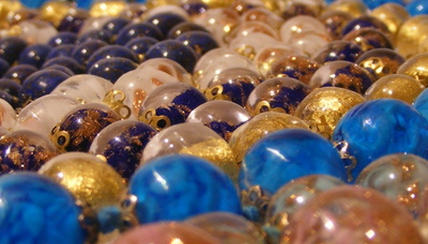 Murano is famous for colourful glass baubles.