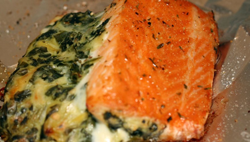Defrost frozen salmon properly to prevent harmful bacteria from ruining the fish.