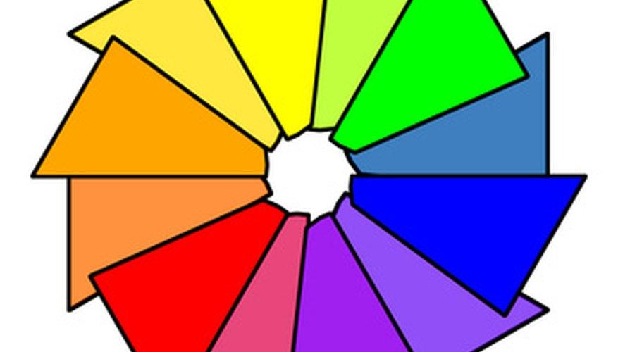 A basic colour wheel