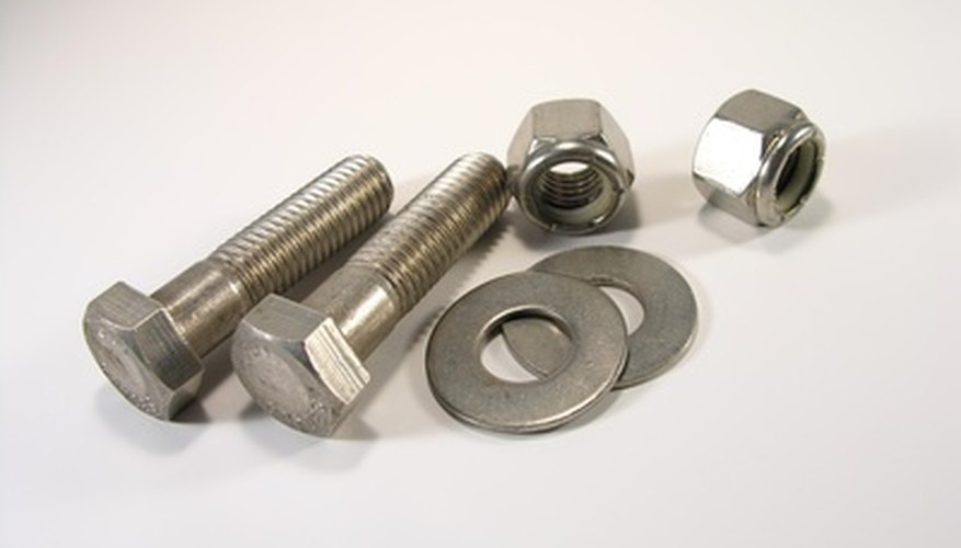 A2 and A4 stainless steel bolts are used for their non-corrosive qualities.