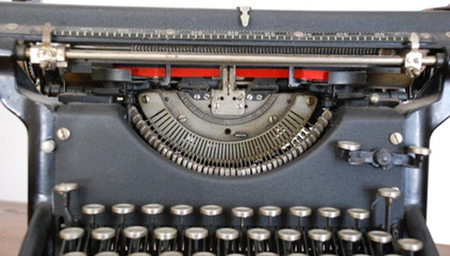 A typewriter similar to an old underwood.