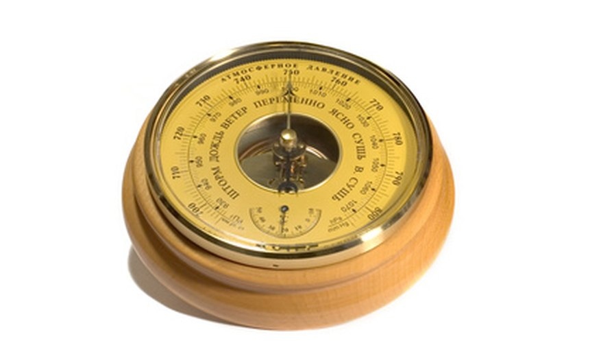 Aneroid barometers, like wind up watches, require some routine maintenance to make sure they function.