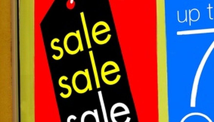 Las ventas ayudan a dirigir el tráfico de la tienda.