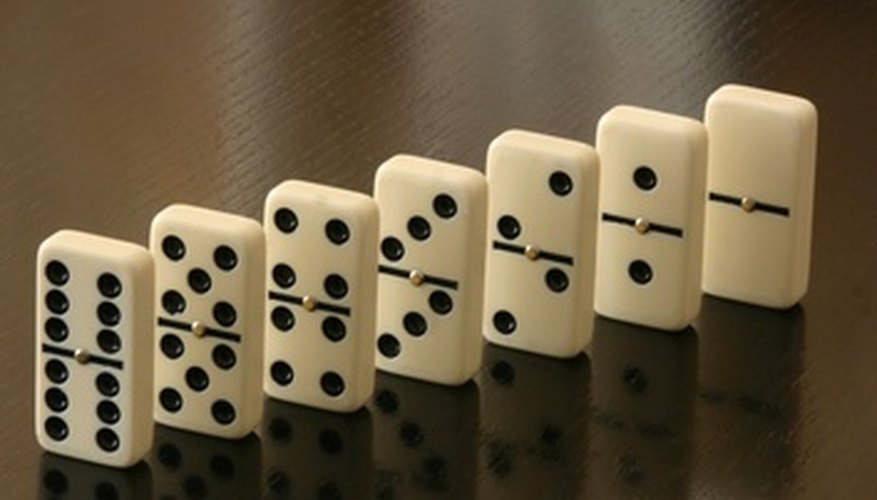 Dominoes with the same number on each side are known as doubles.