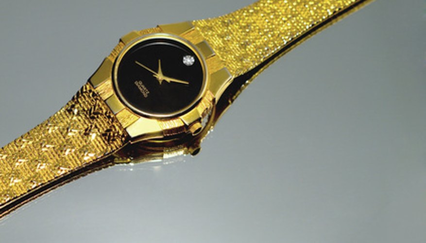 Gold watch straps can be replated.