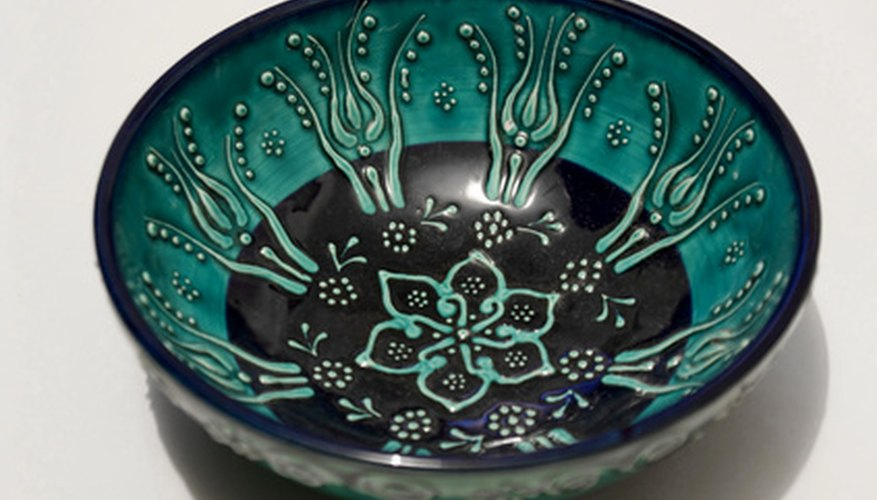 Chinese cloisonné is known for its beautiful designs and bright colours.